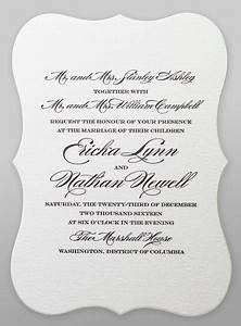 Say it with style wording wedding invitations for Wedding invitation wording both parents first names