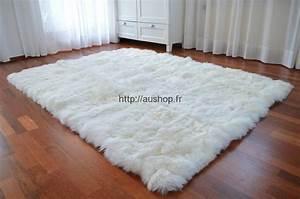 tapis blanc design bureaux prestige With tapis laine pas cher