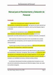 Manual De Personal  Explicaci U00f3n De C U00f3mo Es El Proceso De