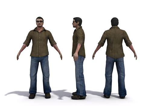 Male Human Character 3d Model