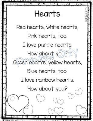 Kindergarten Valentine Day Poems