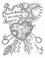 Coloring Adult Anniversary Happy Forever Always Karen Lukens Adults Printable Quote Drawing Heart Colouring Valentine Drawings Cool Artist Template sketch template