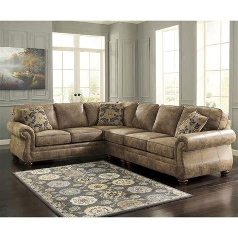 Larkinhurst Sofa Set by Larkinhurst 3 Faux Leather Sectional In Earth
