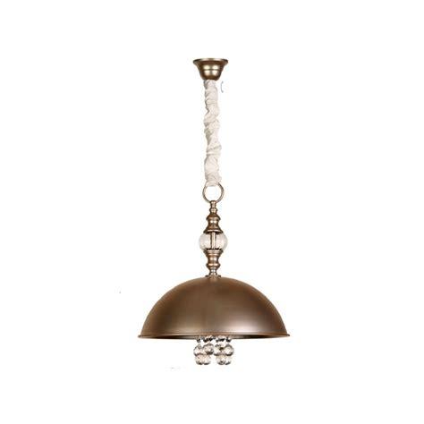 lampara de techo colgante de  luz de metal acabado iridio