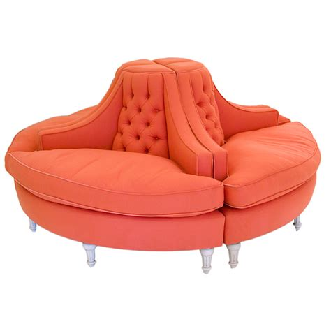 Circular Settee by Unique Orange Sofa Borzii Style Part Of Furniture