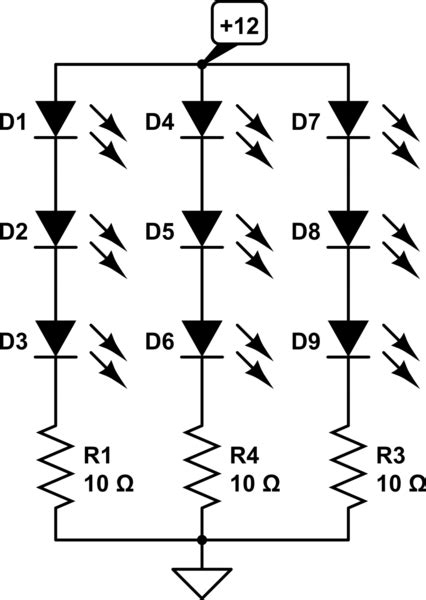 Led Parallel Series Resistor Calculation Help
