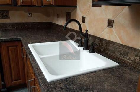 karran portland kitchen sink white drop in type