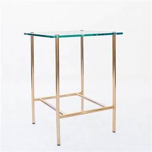 Table D Appoint Canapé : table d 39 appoint en laiton et verre ~ Teatrodelosmanantiales.com Idées de Décoration