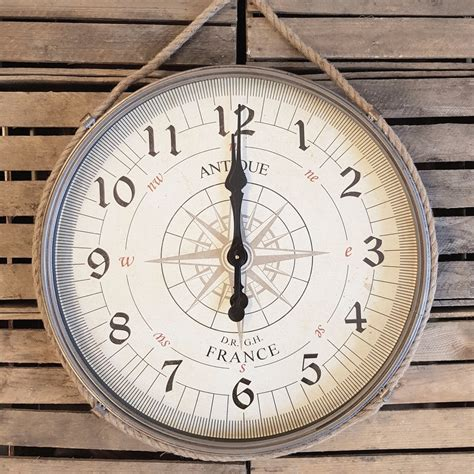 Große Uhr Wand by Gro 223 E Wand Uhr Kompass Www Nautic Home De