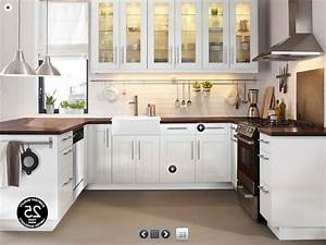 Amazing modern kitchen with white wooden countertops and for Kitchen wood cabinets white countertops