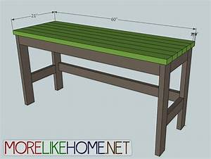 More Like Home: Day 2 - Build a Casual Desk with 2x4s