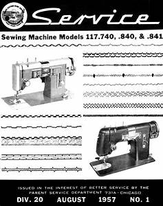 Kenmore 117  740 840 841 Sewing Machine Service Manual