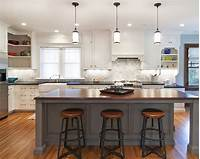 kitchen with island Kitchen Island Lighting with Advanced Appearance - Traba Homes