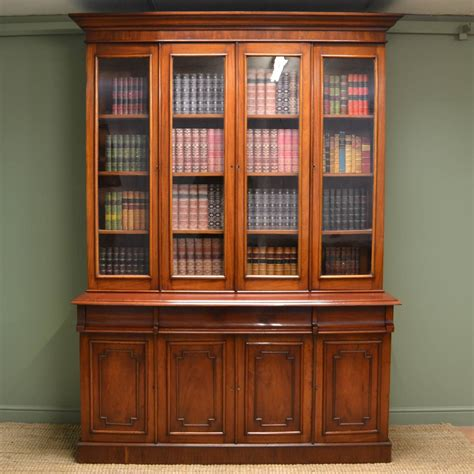 Dresser Bookcase by Large Mahogany Antique Glazed Bookcase Dresser