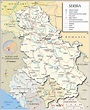 Political Map of Serbia - Nations Online Project