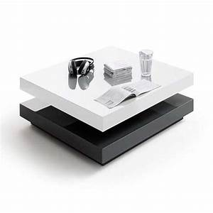 hugo high gloss coffee table square in white and grey 28376 With white and gray coffee table