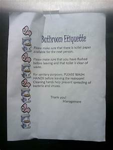 What the foto bathroom etiquette for Bathroom edicate