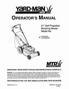 Mtd 12a 559k402 User Manual Lawn Mower Manuals And Guides