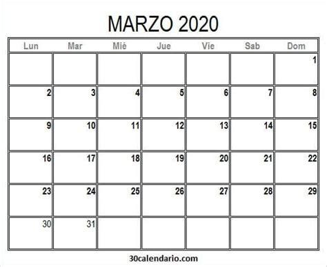 foto de Calendario De Marzo De 2020 Para Imprimir Calendario en