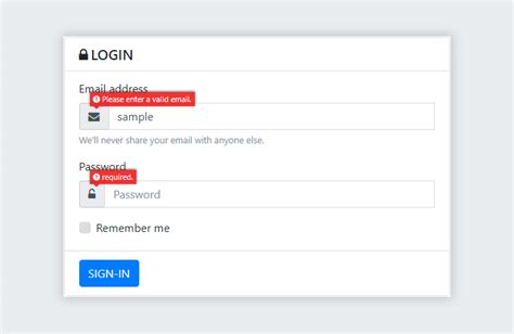 bootstrap modal popup login form with validations