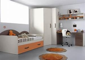 Lit Avec Armoire : acheter votre lit gigogne avec bureau et armoire d 39 angle chez simeuble ~ Teatrodelosmanantiales.com Idées de Décoration