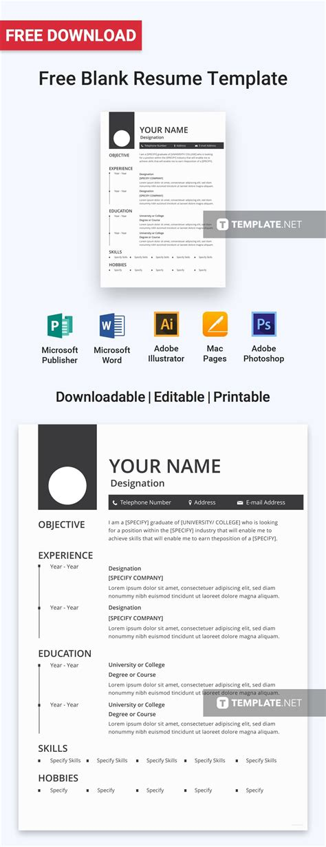 Free Cv Templates To Use by Free Blank Resume Resume Templates Designs 2019 Free
