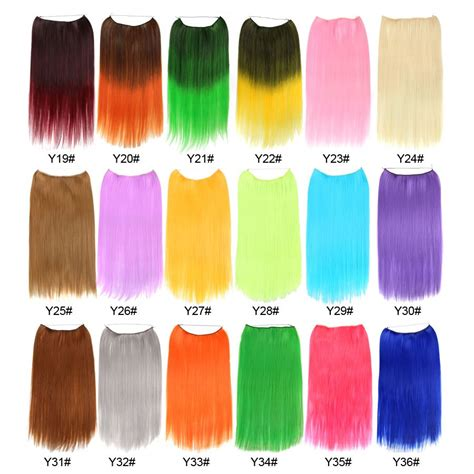 Alileader 22 Inches Clip On Wire Fish Line Hair Extensions