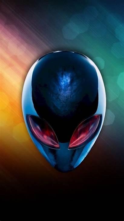 Alienware Alien Head Eyes Rainbow Windows Wallpapers