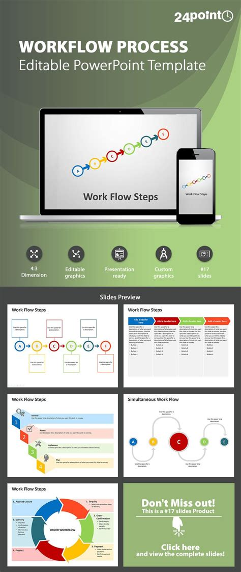 powerpoint workflow template workflow process steps powerpoint template a workflow diagram is a roadmap for implementation