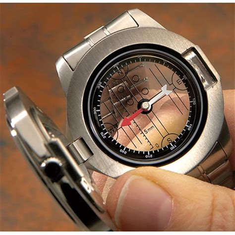 National Geographic® Compass Watch, Silver  Tone 141402
