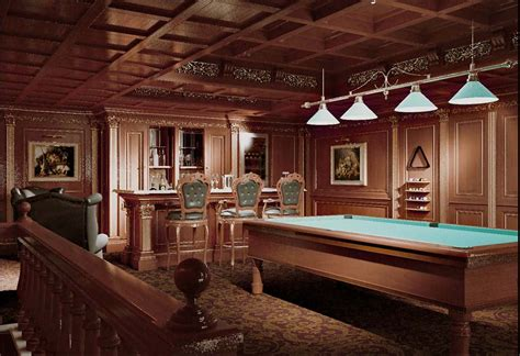 custom  billiard room  luxury houses faoma