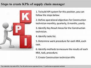 Objectives For Administrative Assistant Supply Chain Manager Kpi