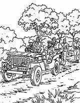 Coloring Jeep Parade Military Wrangler Army Cherokee Printable Getdrawings Distance Shooting Grand Getcolorings Colorluna sketch template