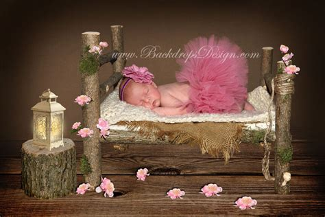 newborn log bed photo prop baby photography prop wood bed