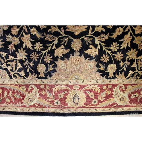 black gold wool oriental rug upscale consignment