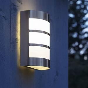 demi applique exterieure montreal e27 40 w inox inspire With carrelage adhesif salle de bain avec luminaire led exterieur avec detecteur