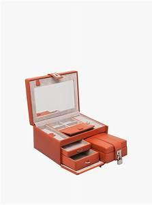 Coffret A Bijoux : coffret bijoux coffret cro te de cuir de vachette doublure ~ Teatrodelosmanantiales.com Idées de Décoration