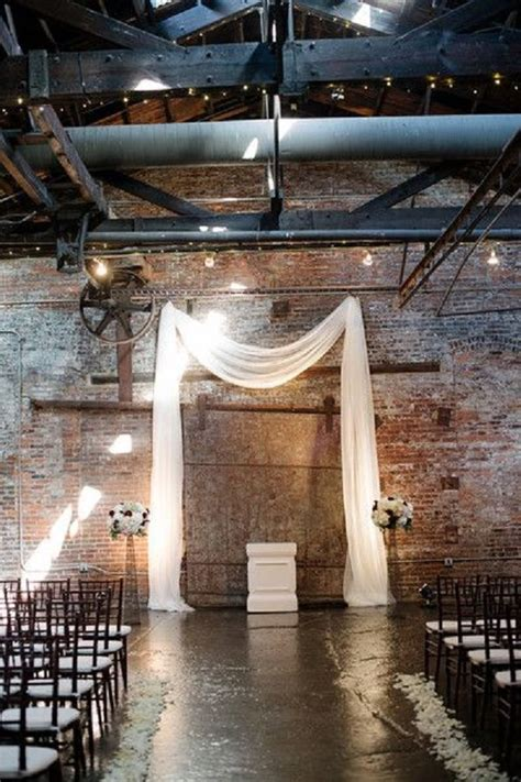 rustic industrial wedding ceremony decor ideas deer