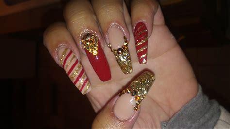 Las uñas acrilicas bonitas no solo dependen de como se realice la tecnica y el profesionalismo de quien las haga. Uñas acrilicas navideñas, diseño moderno / Uñas acrilicas 2016 - YouTube