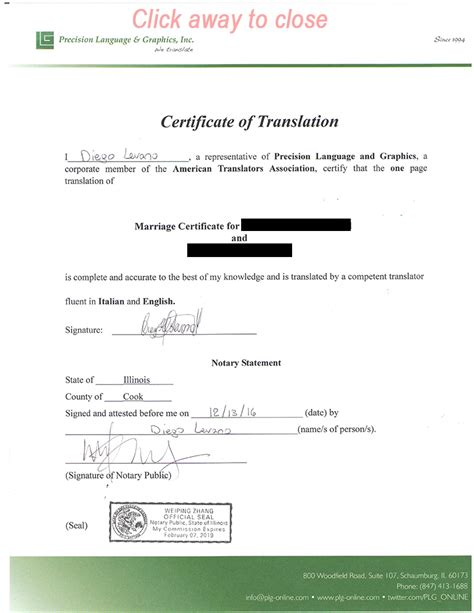 wedding certificate translated  english printable