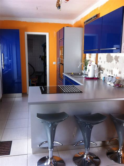 meuble cuisine repeint sabri repeint sa cuisine meuble de cuisine bleu