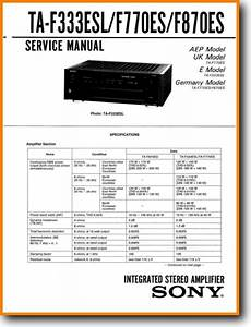 Sony Taf-870-es Solid State Amp Receiver