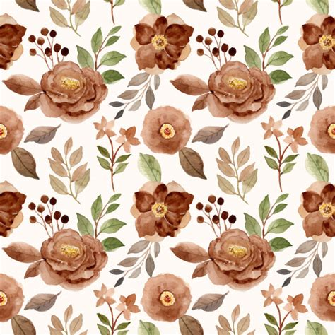 Download beautiful, curated free backgrounds on unsplash. Brown floral beautiful watercolor seamless pattern ...