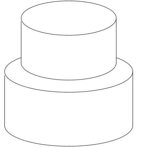 diy tiered cake outline lots  room  sketchgreat