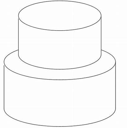 Cake Tiered Cakes Outline Sketch Tier Templates