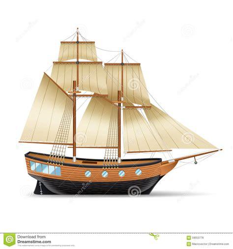 Ship Illustration by Sailing Ship Illustration Stock Vector Image 59553778