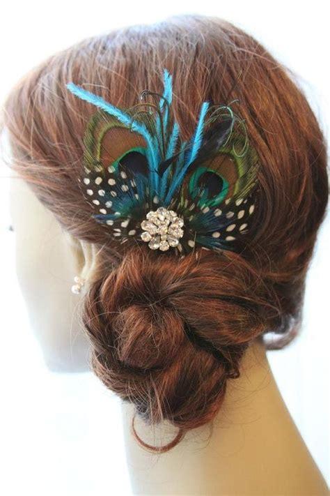 peacock feather fascinator wedding fascinator hairclip