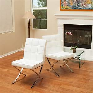 Pandora, Modern, Design, White, Leather, Dining, Chairs, Set, Of, 2, U2013, Gdf, Studio