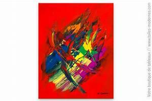 Tableau Coloré Moderne : tableau abstrait r ve color ~ Teatrodelosmanantiales.com Idées de Décoration