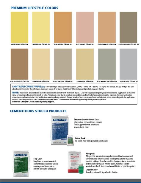 lahabra stucco color charts resource page with downloads